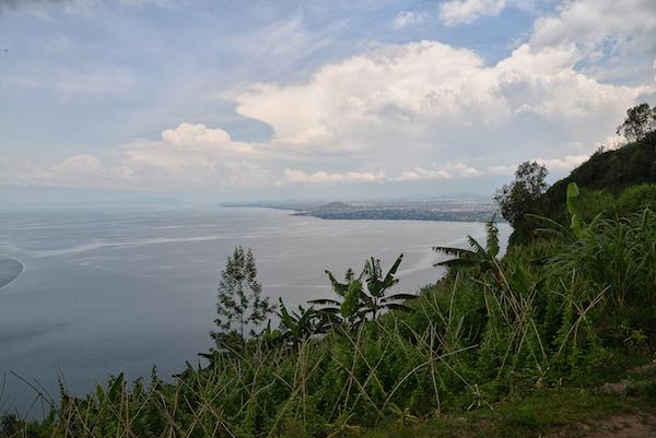 Blick auf Goma von Gisenyi/Rubavu aus.